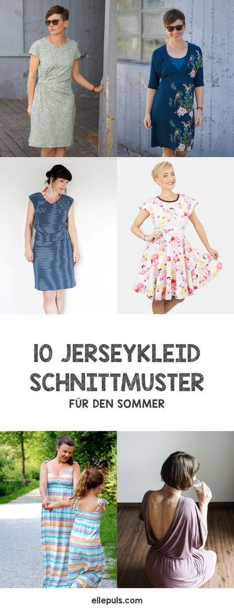 10 sommerliche Jerseykleid Schnittmuster | Pinterest | Nähen ...