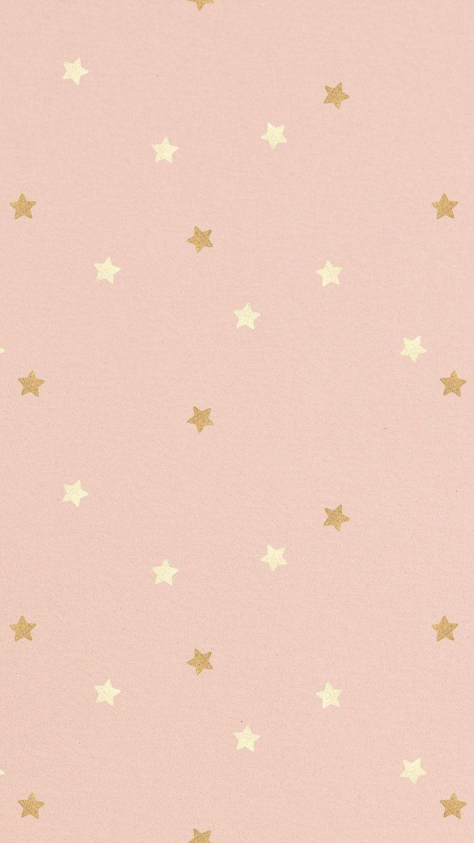 Download free illustration of Shimmering gold star patterned background