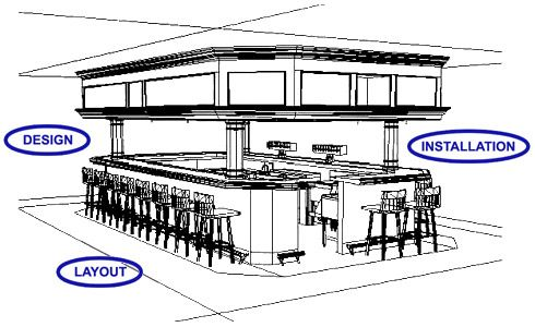 Captivating Restaurant Bar Designs Layouts | Restaurant Design Layout