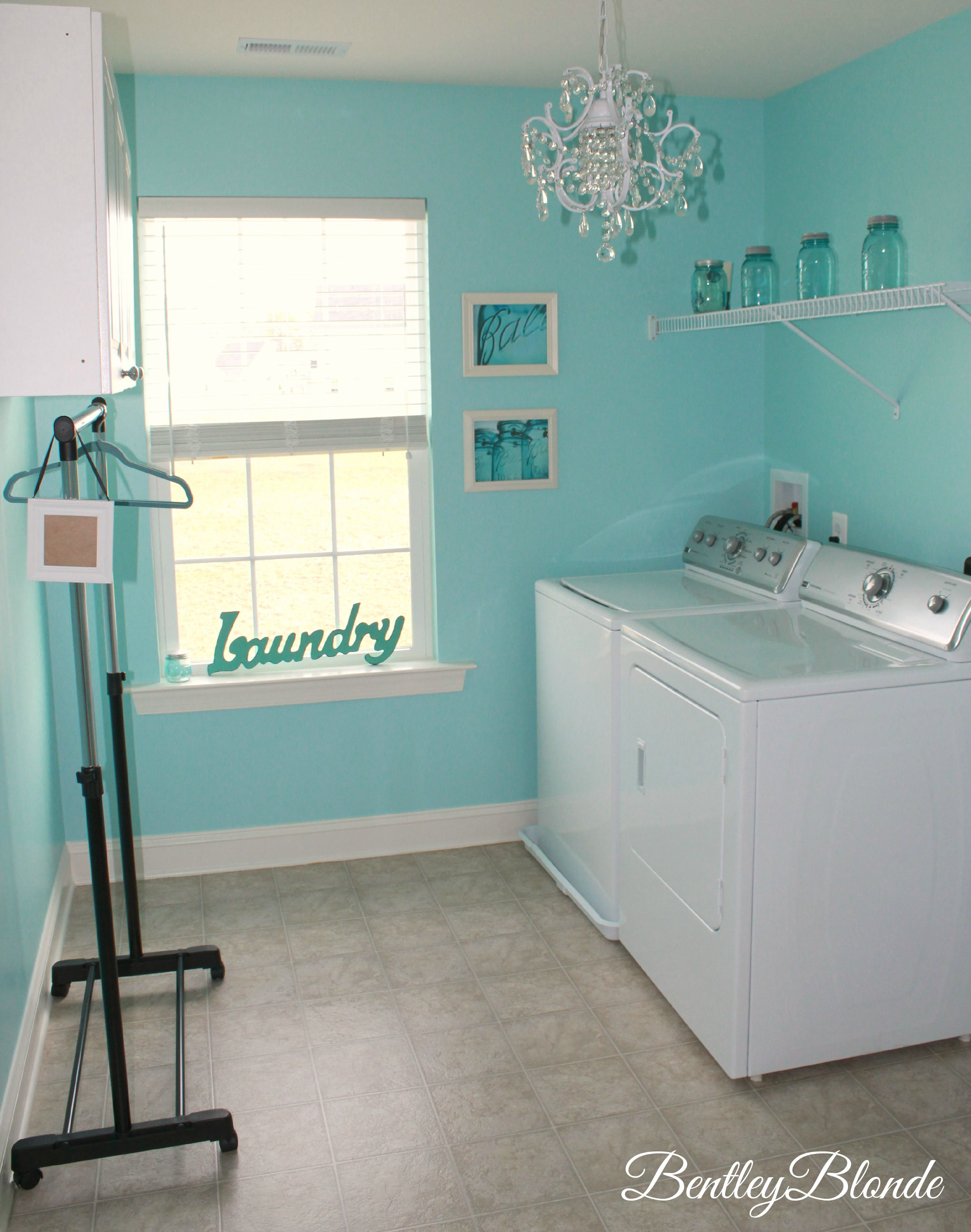 Tiffany Blue Laundry Room Bentleyblonde House Tour I Like The