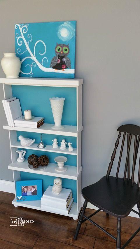 Repurposed Drawers Bookcase