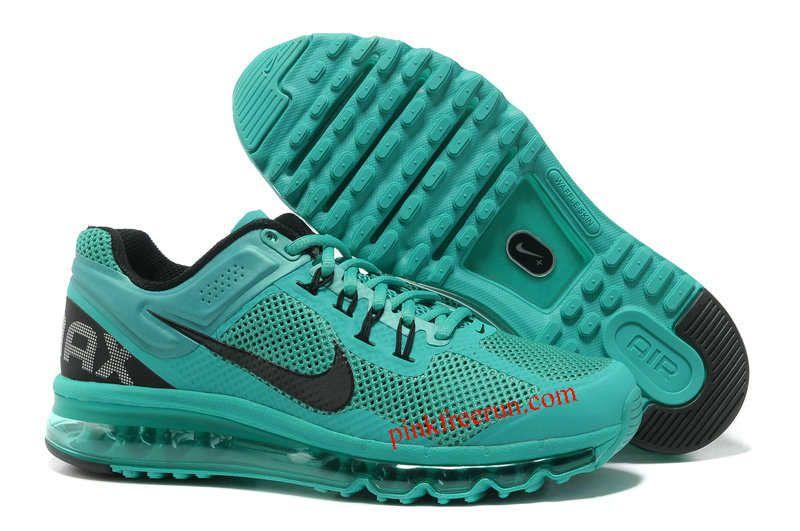 b2f7849b7df6 Atomic Green Black Nike Air Max 2013 Men s Running Shoes