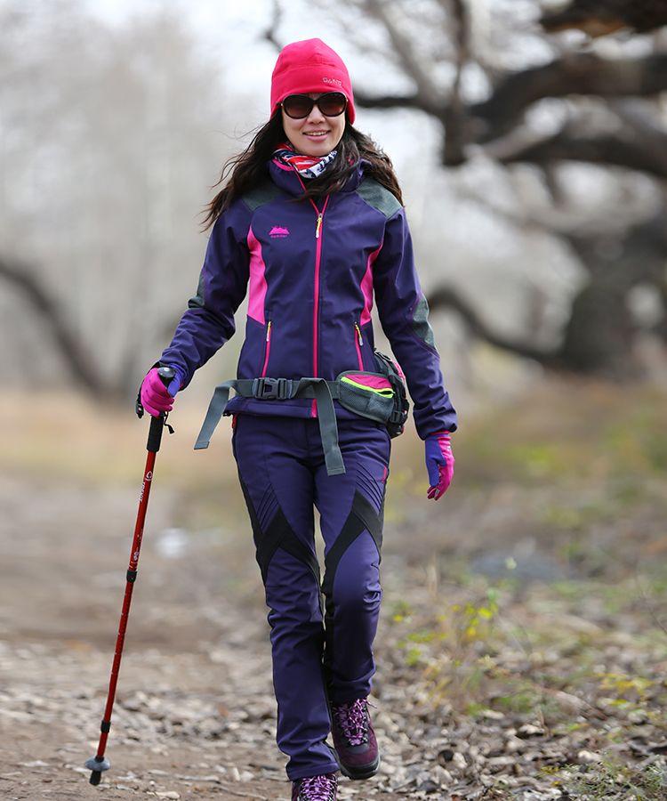 e6bf2ed45e0b1 Aliexpress.com  Comprar Mujeres exterior de lana ropa de cáscara suave a  prueba de viento térmico exterior viajes chaqueta senderismo deportes  ocasionales ...