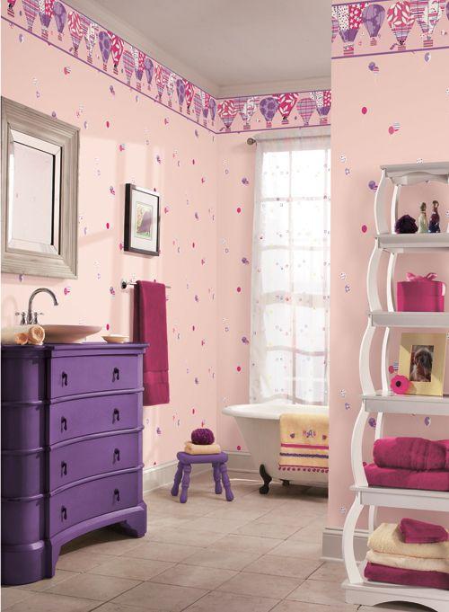 Papel tapiz infantil para ni as cuarto naty pinterest for Papel tapiz infantil