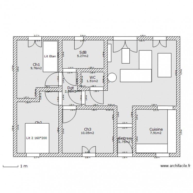 archifacile am nagement maison 80 m2 pinterest