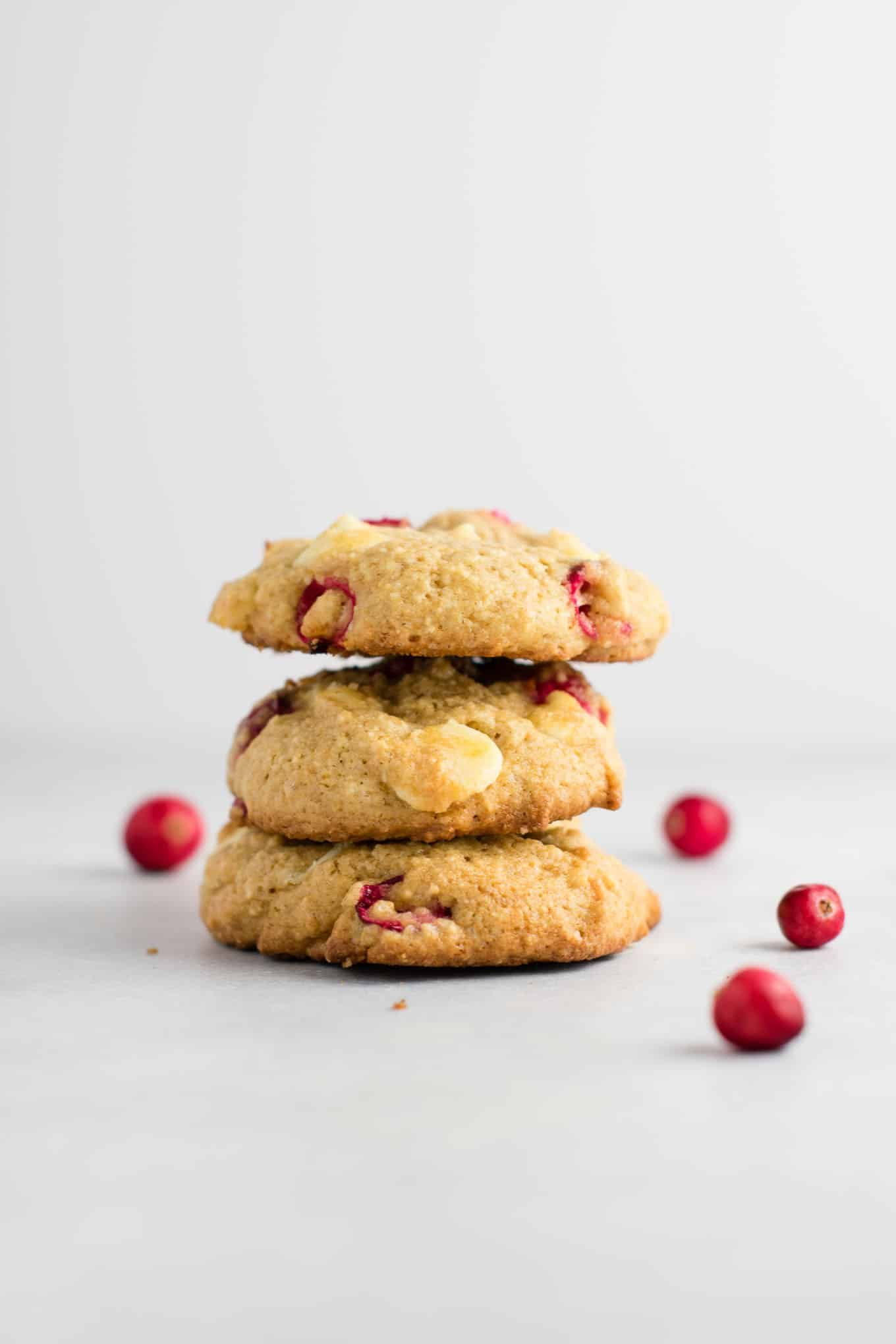 Healthier Cranberry White Chocolate Chip Cookies Recipe With Fresh