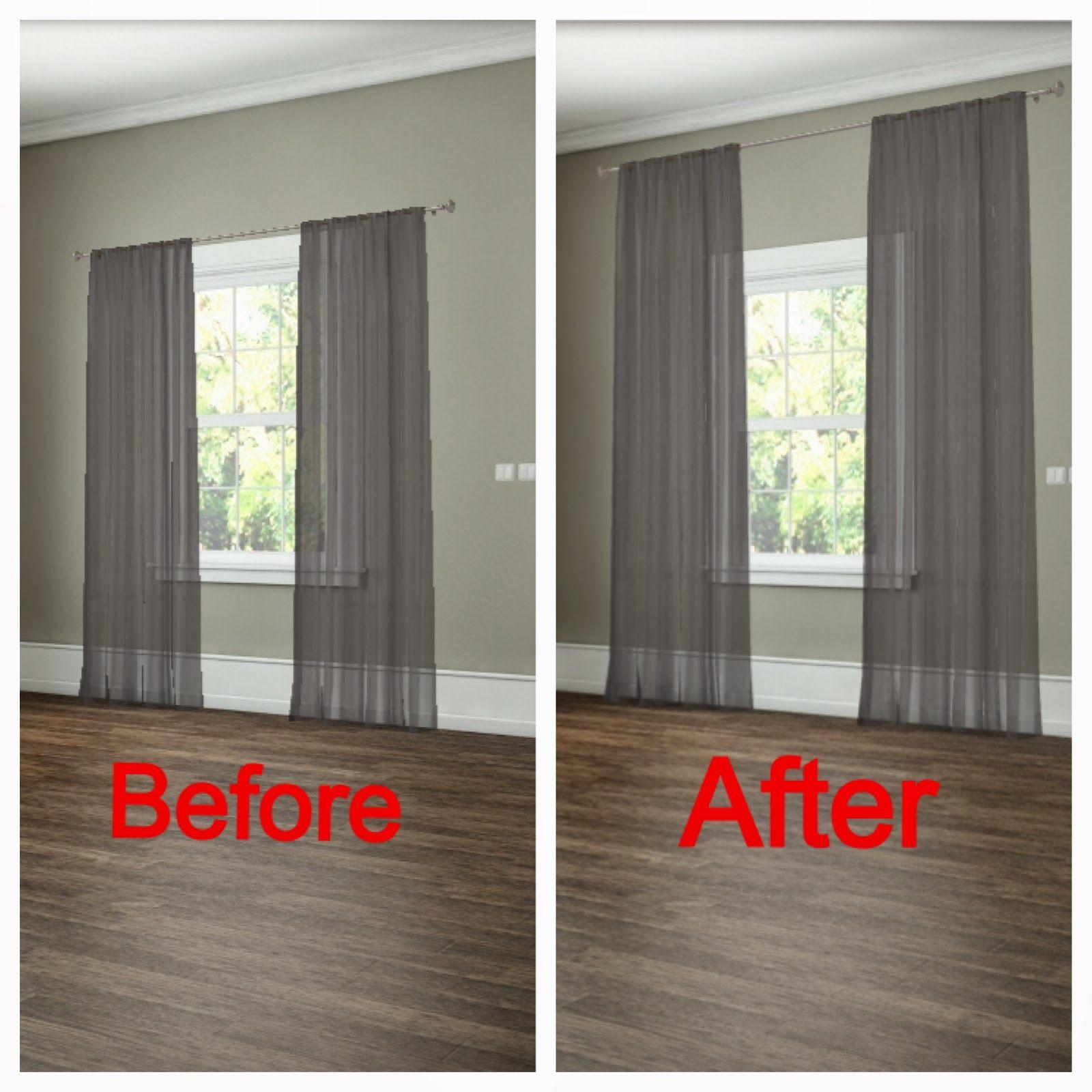 hang drapes