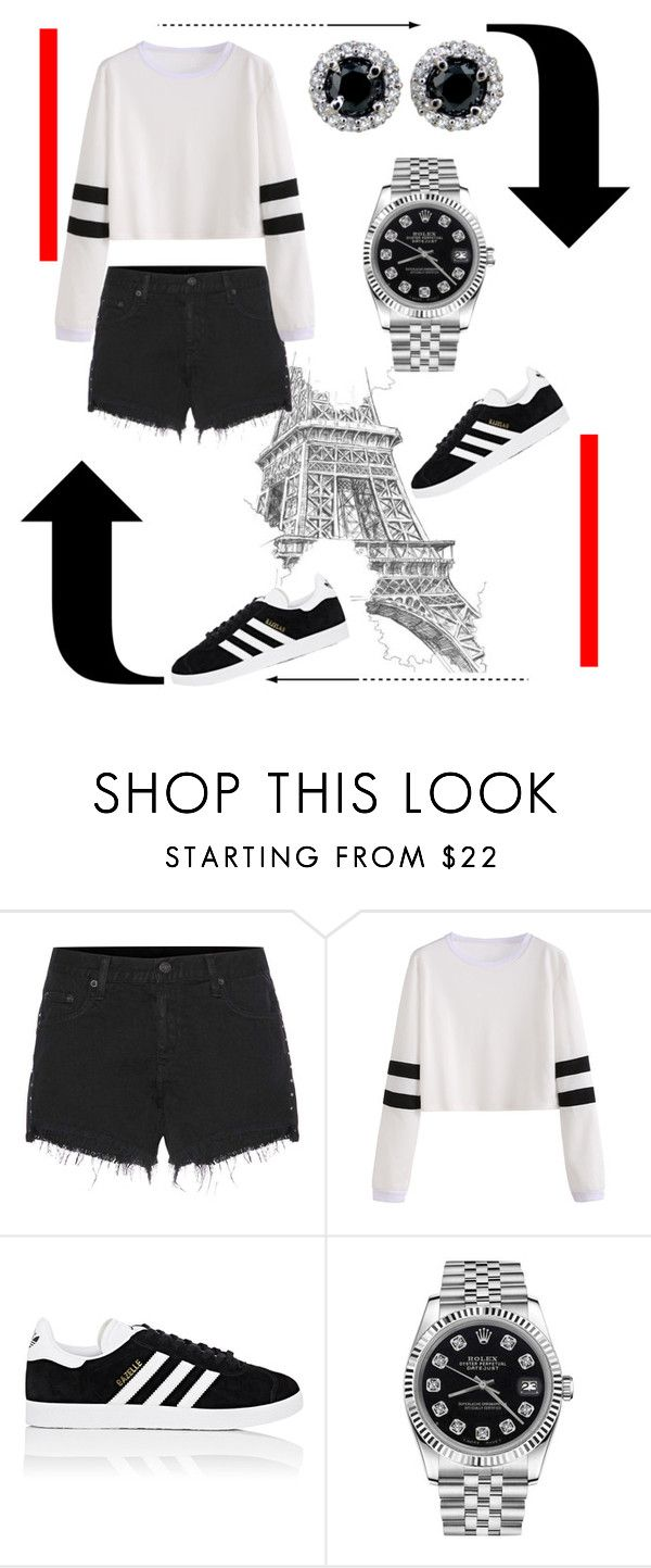 """""""You make me sad"""" by amygirl49 ❤ liked on Polyvore featuring rag & bone, adidas and Rolex"""