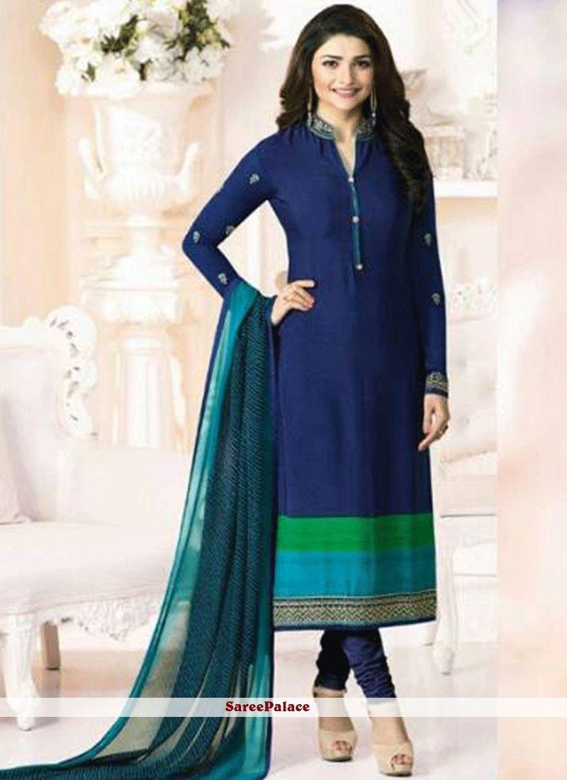 d061b1538ba Prachi Desai Faux Crepe Print Work Churidar Designer Suit