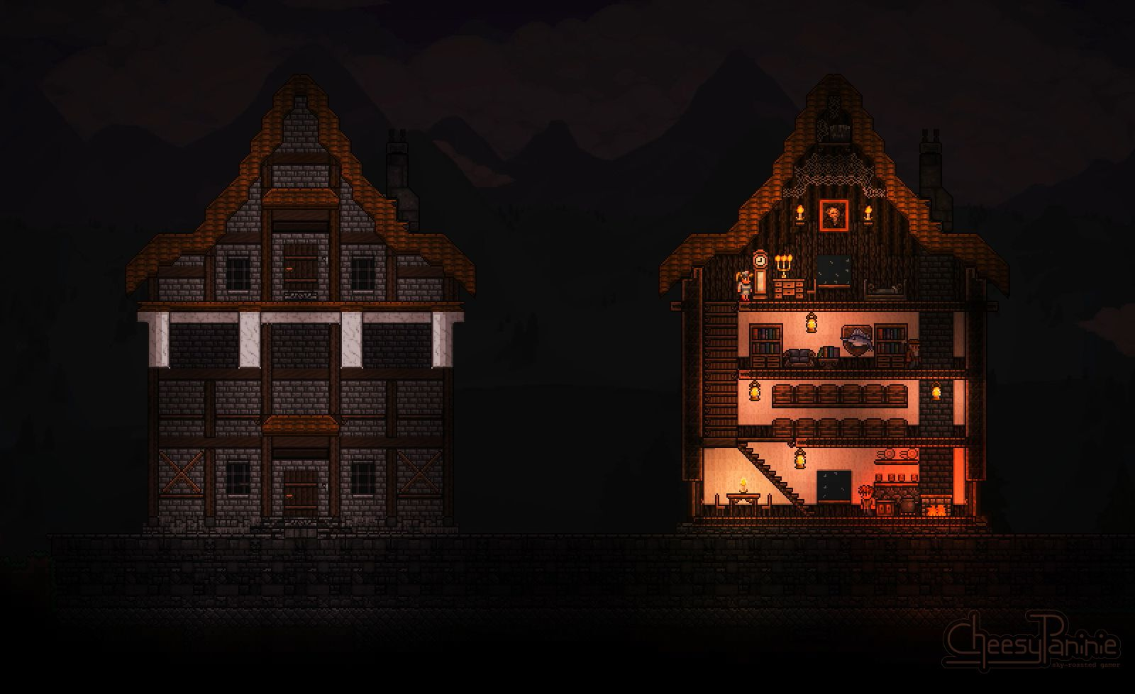 Wygol Village House Terraria Inspired By Castlevania Order Of