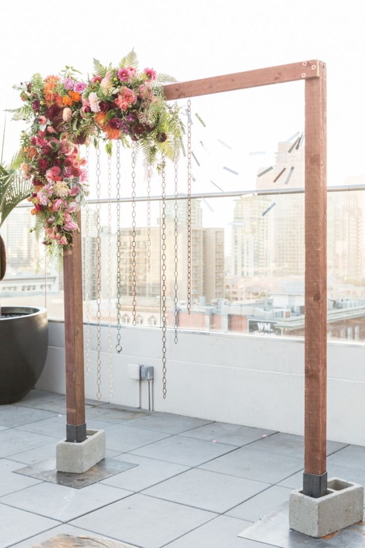 Edgy glam wedding inspiration diy wedding backdrop