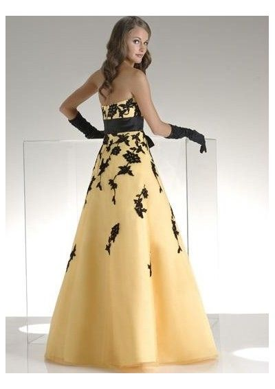 detachable sash and a line skirt floor Long Prom Dresses