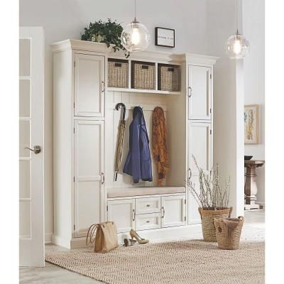 Home Decorators Collection Royce 4 Hook Contemporary Wood All In