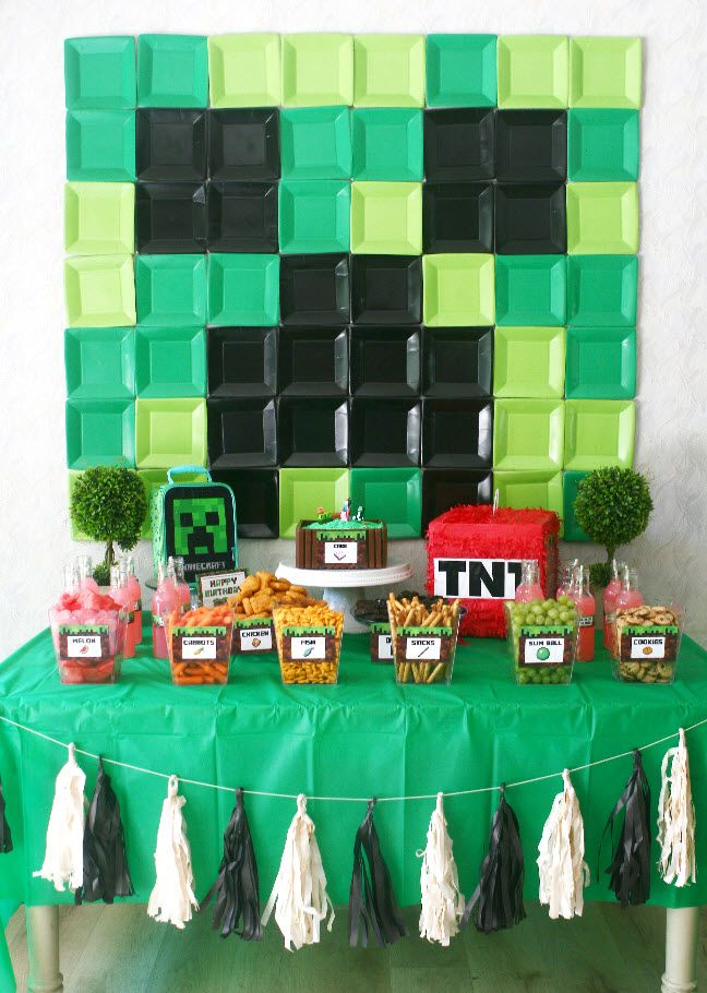 Minecraft Birthday Party #boybirthdayparties