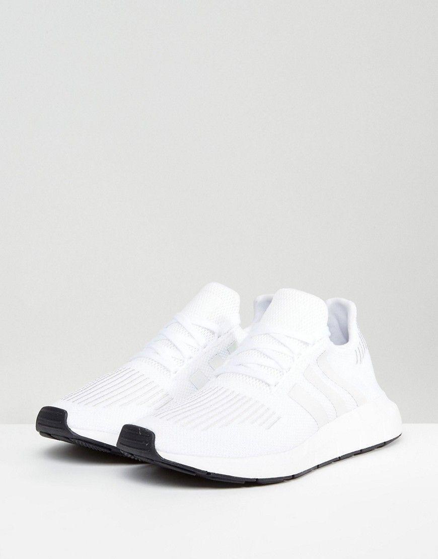 a7619e7cb adidas Originals Swift Run Sneakers In White CG4112 - White  Sneakers