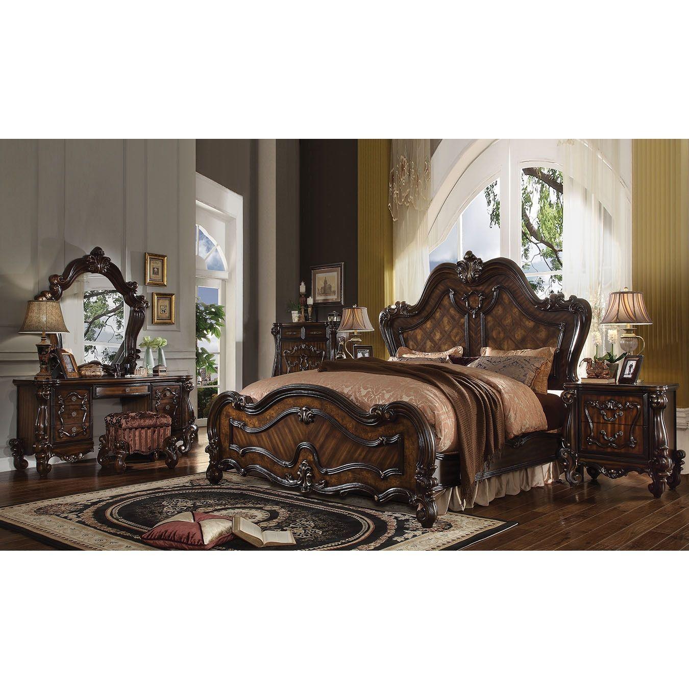Royal Sleigh Brown Mdf Wood Veneer Bed California King