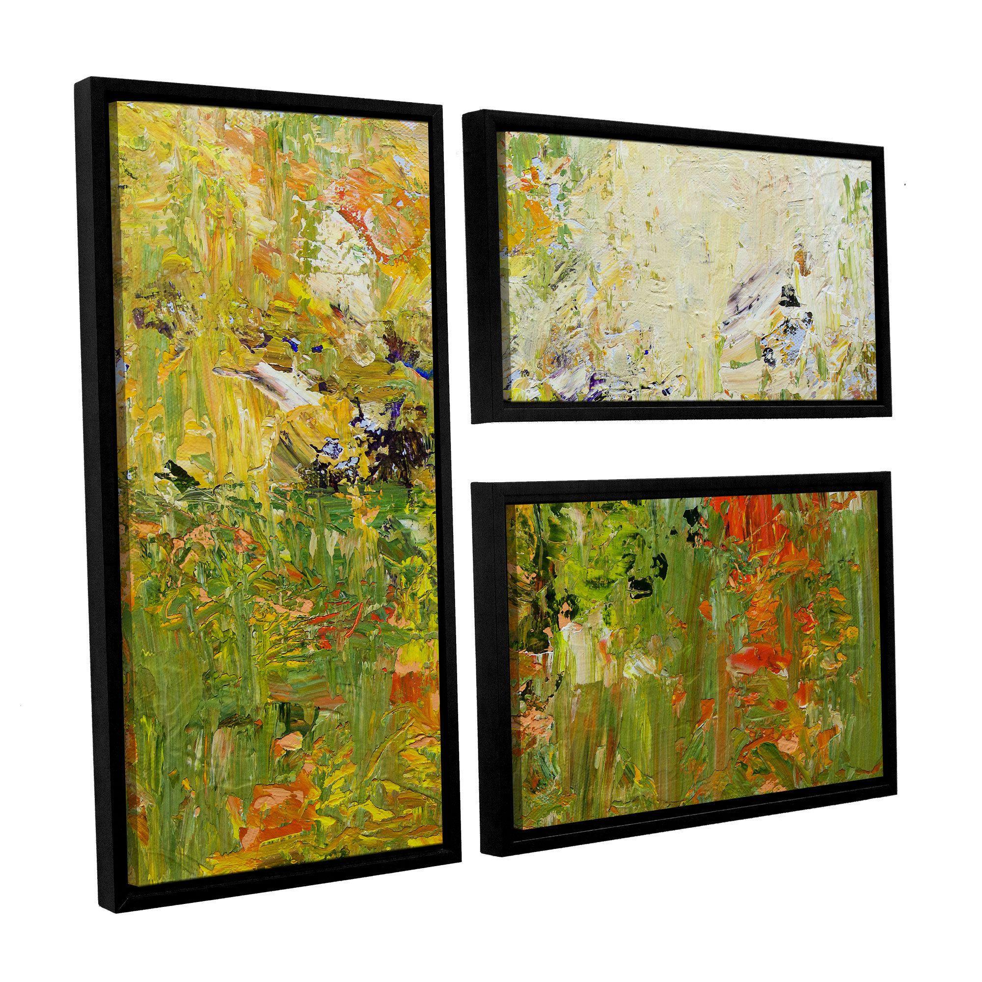 ArtWall Allan Friedlander\'s \'Chester\' 3-piece Floater Framed Canvas ...