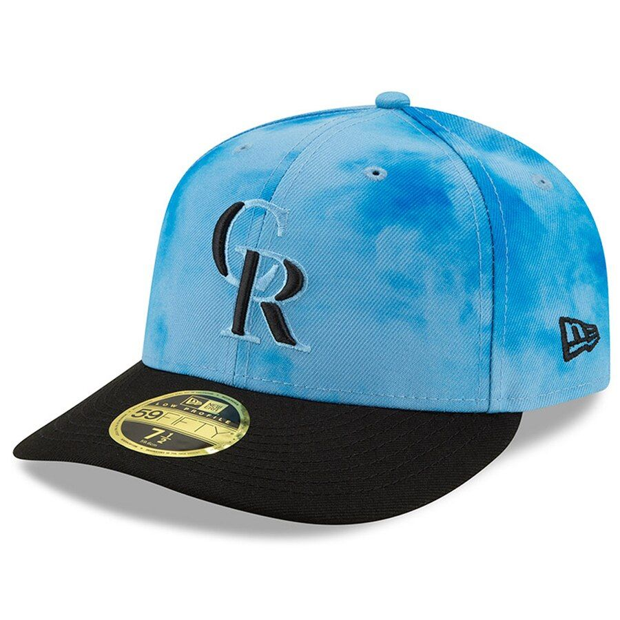 new style 89f63 86505 Men s Colorado Rockies New Era Blue Black 2019 Father s Day On-Field Low  Profile