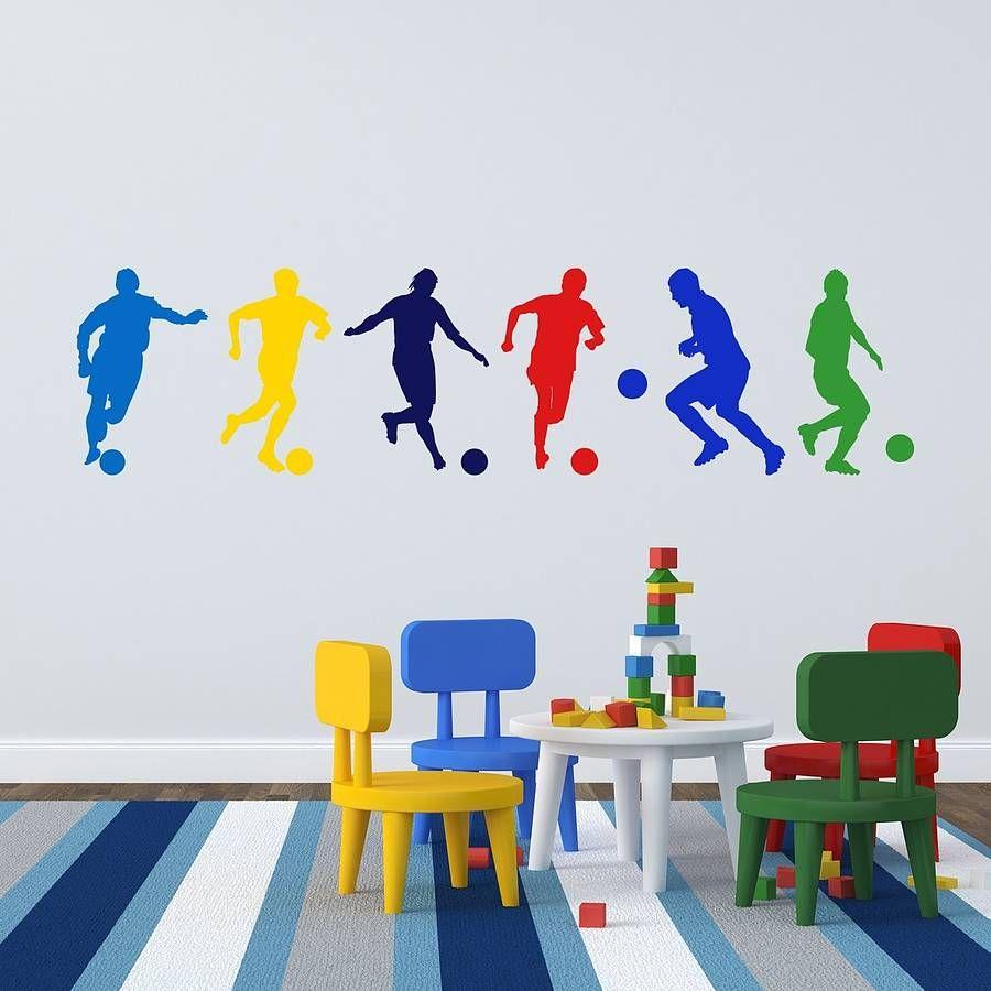 Football Boys Wall Stickers | Boys wall stickers, Football boys and ...
