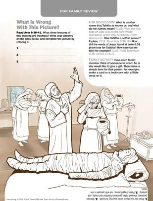Peter Resurrects Tabitha Bible Activities Peter Bible Bible