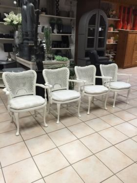 Sessel Weiss Shabby Chic Wie Chippendale Lieferservice In Essen