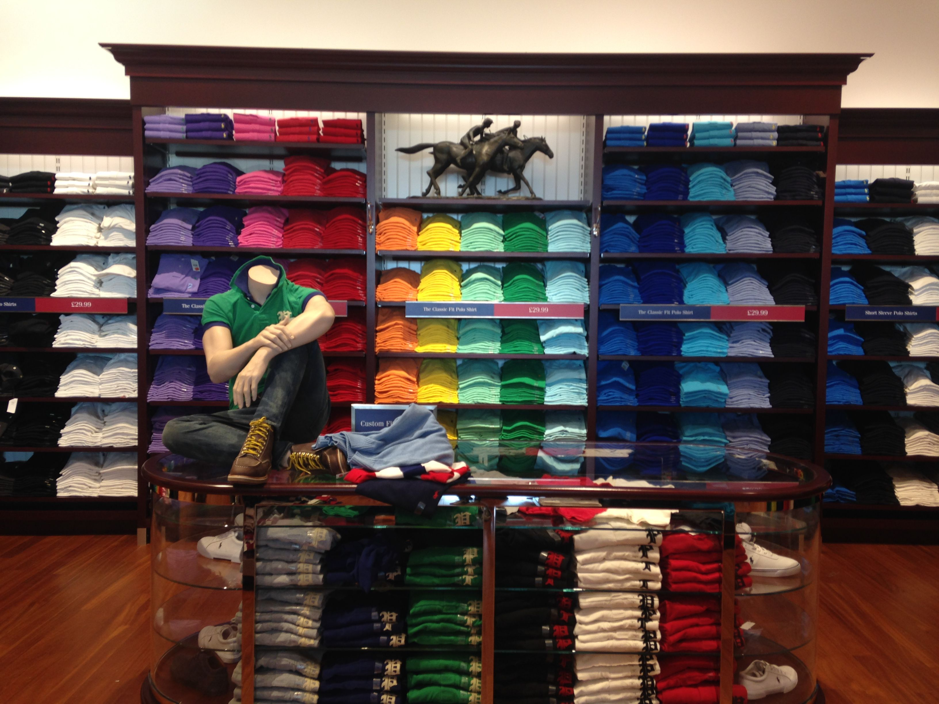 8cda44236322 Smart. Fresh. This visual merchandising is really engaging and eye catching  and gives a memorable experience for the Ralph Lauren Polo customer.