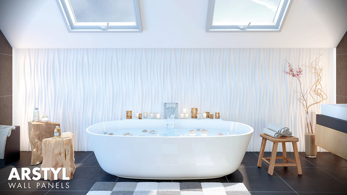 ARSTYL® Wall Panels LIQUID #bathroom | WALL PANELS | Pinterest | Walls