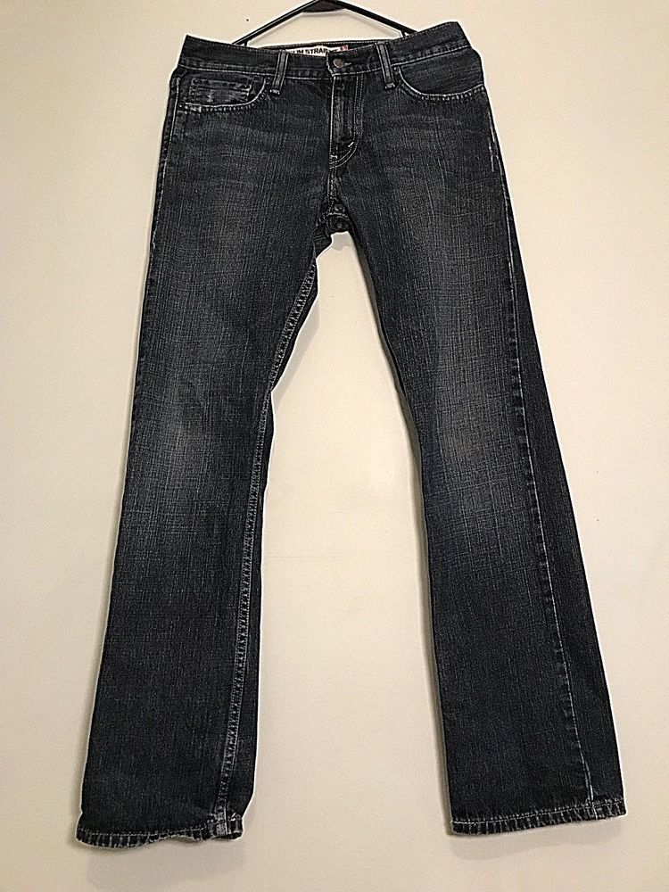 85ee3632 Levi 514 Mens Slim Fit Straight Leg Dark Blue Jeans size 29x32 #fashion # clothing #shoes #accessories #mensclothing #jeans (ebay link)