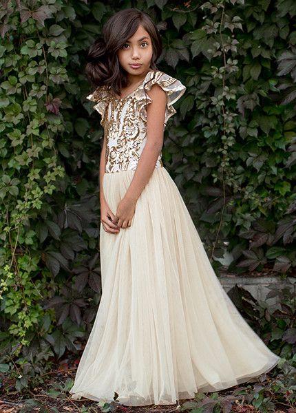 Joyfolie ivy dress in rose gold