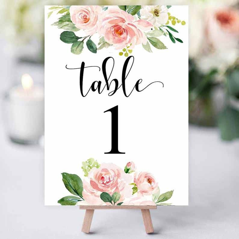 Table Number Template Editable Table Number Template 5x7 And 4x6 Table Numbers Table Numbers Printab Printable Table Numbers Table Numbers Number Templates