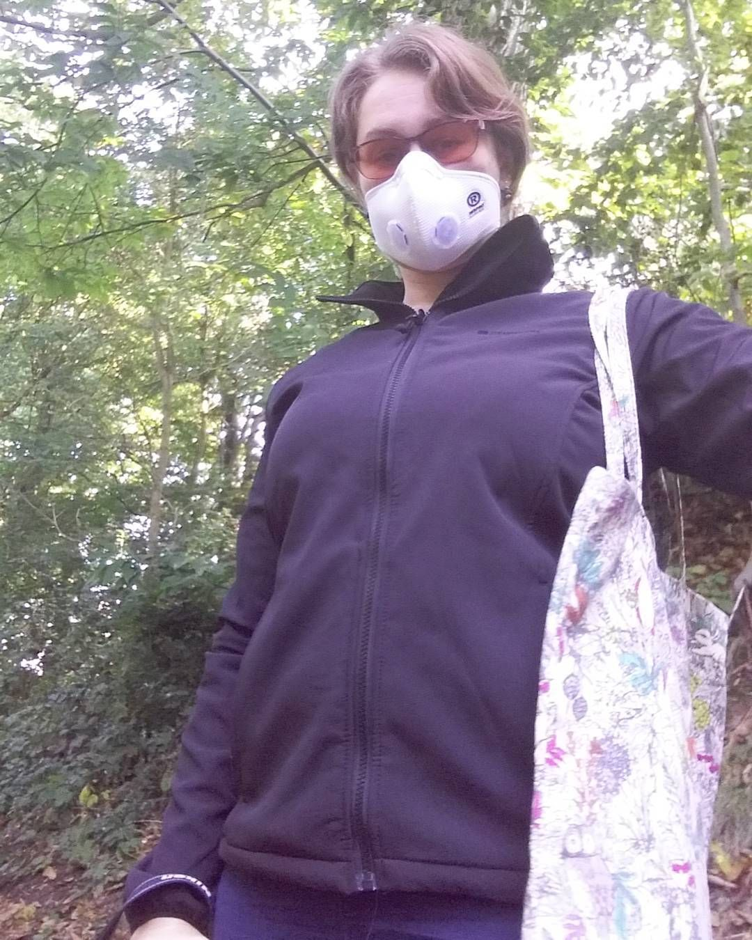 Walk in the park. I love autumn and I can actually enjoy it without worrying about allergies now. #Respro #AllergyMask #Facemask