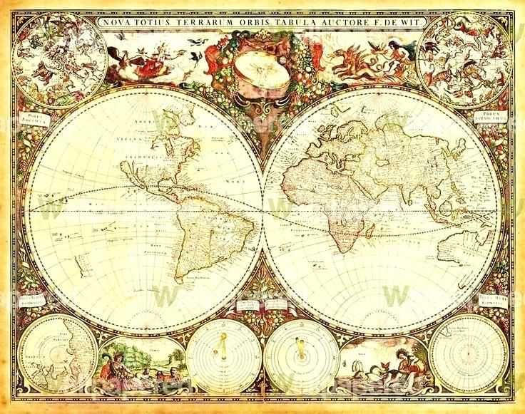 Vintage Map Wallpaper old map wallpaper best old maps images on ...
