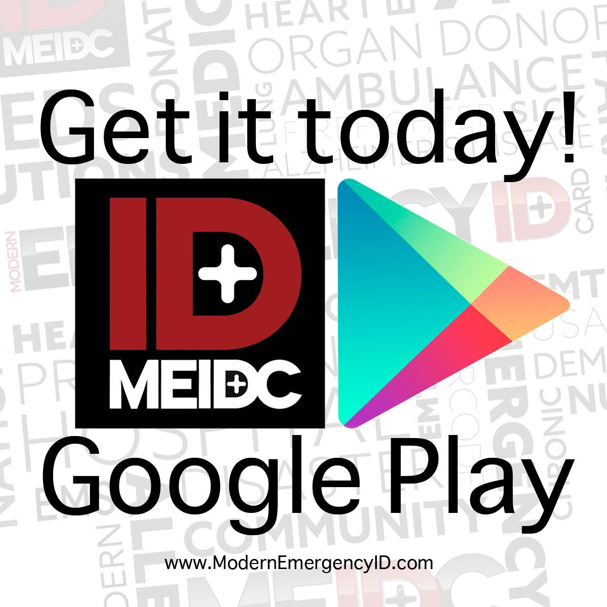 Get the free Modern Emergency ID card making mobile app today in the