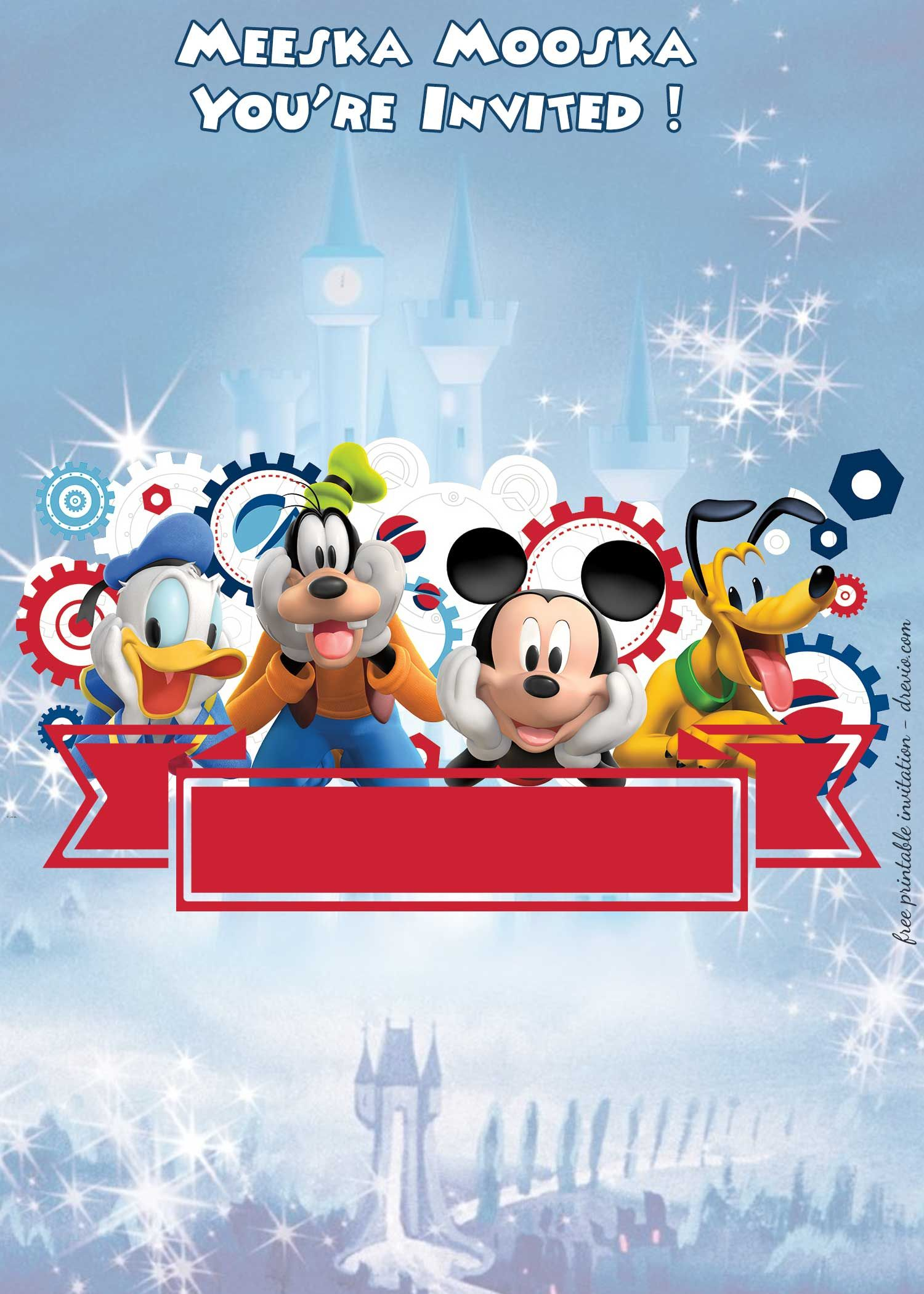 Free mickey mouse clubhouse disney castle invitation templates download now free mickey mouse clubhouse disney castle invitation templates maxwellsz