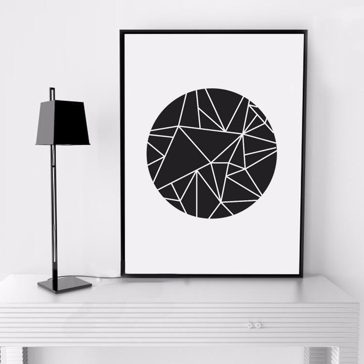 Geometric Circle Poster | kendrif | Pinterest | Produkte, Zuhause ...