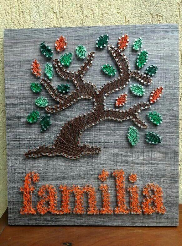 Quadro Arvore Genealogica Familia Com Imagens Arte Em Cordas