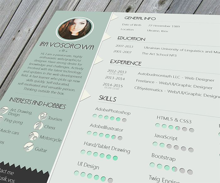 free resume template mint design on behance