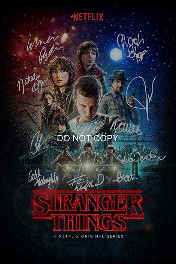 Loa_Autographs Stranger Things CAST Reprint Signed 12x18 Poster All 10#1 RP Netflix TV Show
