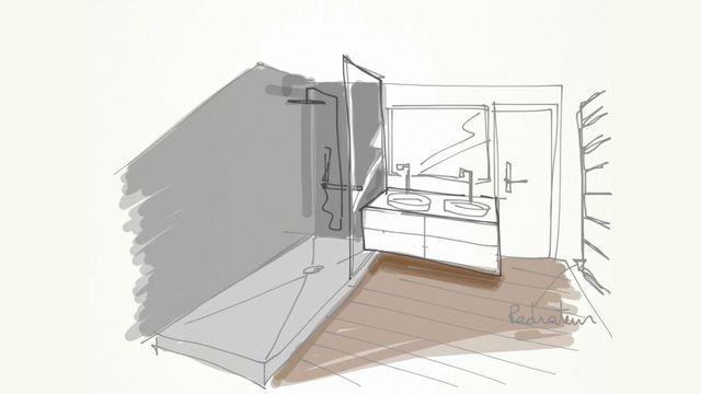 Refaire Sa Salle De Bains Installer Une Douche à Litalienne - Perspective salle de bain