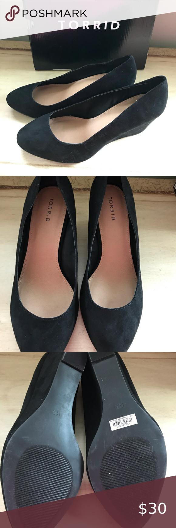 NWT Torrid Black Wedge Closed Toe Shoe