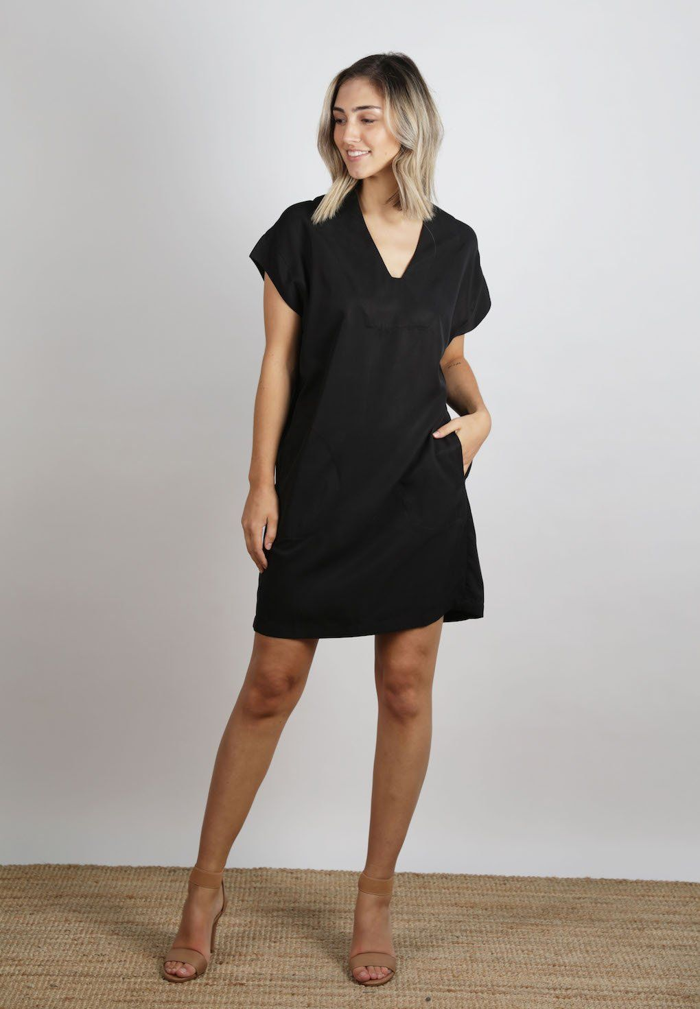 Ellis & Dewey - Black Lyocell Dress