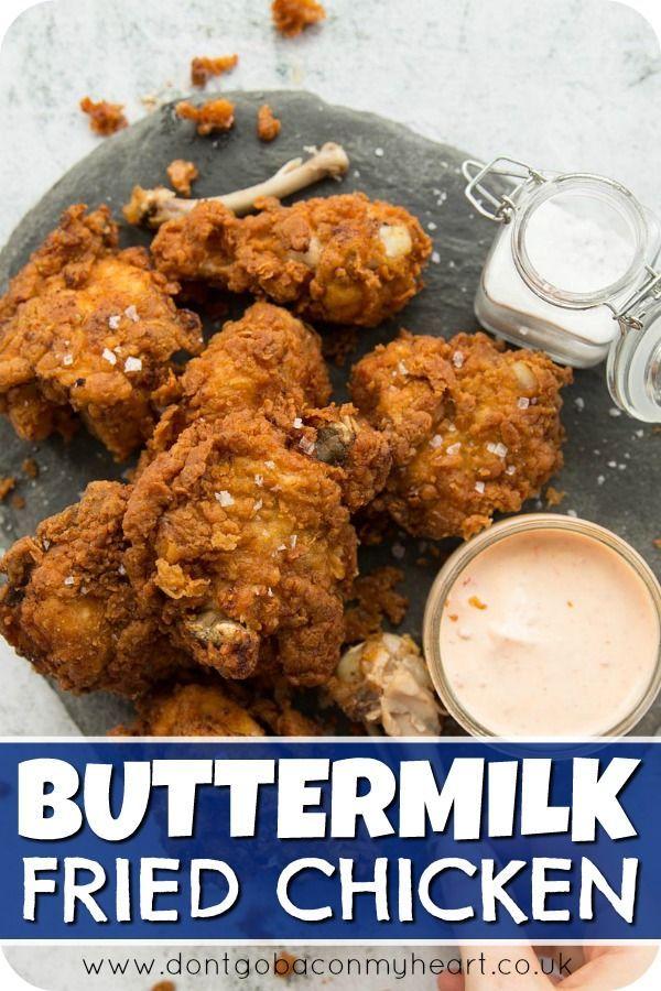 Buttermilk Fried Chicken Recipe Fried Chicken Recipes Chicken Wing Recipes Buttermilk Fried Chicken