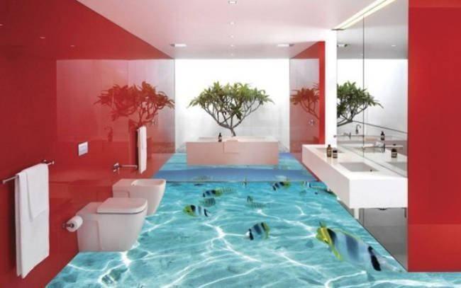 Porcelanato Líquido e Piso 3D | Pisos para baños, Pisos y ...