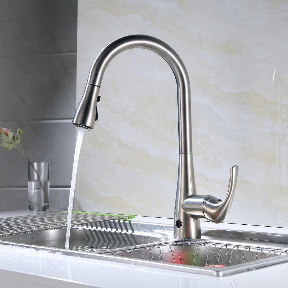 Flow Motion Activated Pull Down Kitchen Faucet In 2021 Kitchen Faucet Moen Kitchen Faucet Touchless Kitchen Faucet