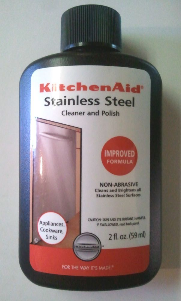 New Kitchenaid Stainless Steel Cleaner And Polish Non Abrasive 2 Oz