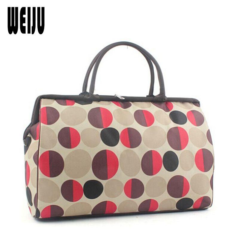 c1a12a54a3 WEIJU Men Travel Bags 2017 Fashion Waterproof Large Capacity Luggage Duffle  Bags Casual Handbag Women Travel Bag