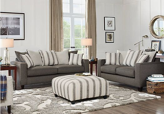 Parker Place Gray 3 Pc Living Room 129999 Find affordable