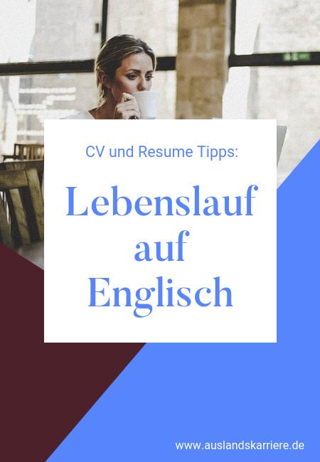 Lebenslauf Auf Englisch Tipps Für Einen Professionellen Englischen
