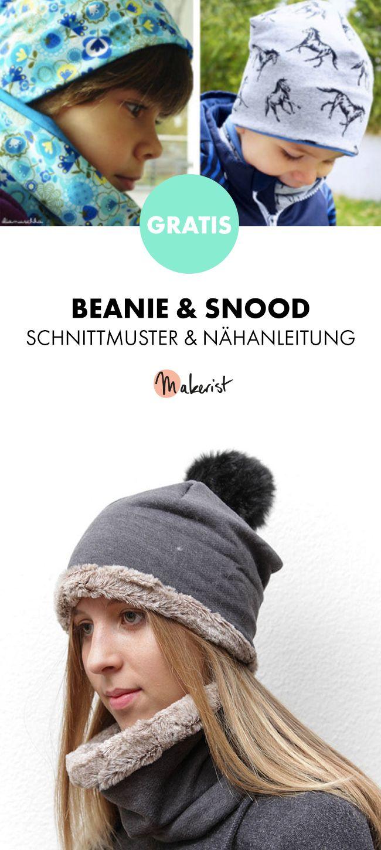 Gratis Anleitung: Beanie und Snood einfach nähen - Schnittmuster und ...