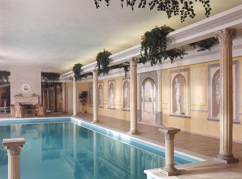 Badkamer Romeinse Stijl : Therme stijl trompe l oeil swimming pool peterpanmurals zwembad